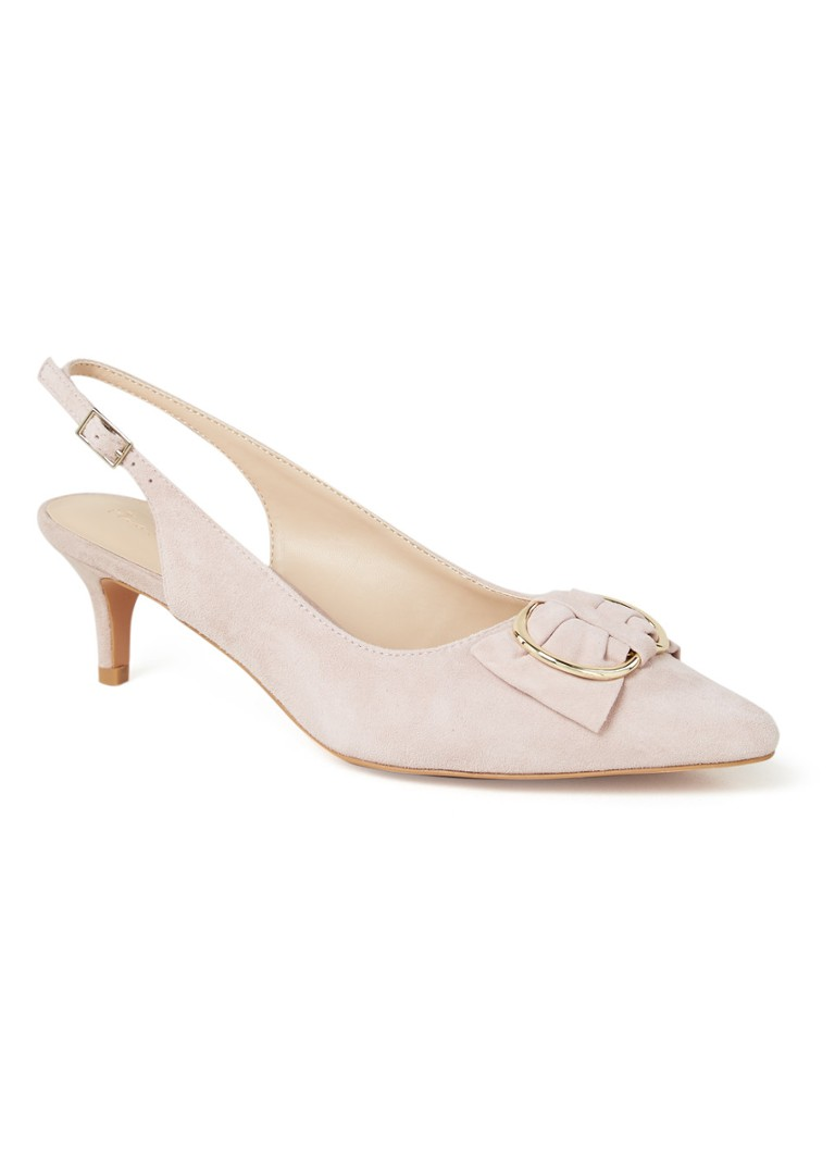 Phase Eight - Slingback en daim Ramona - Vieux rose