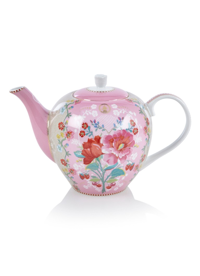 Pip Studio - Floral theepot 1,6 liter - Roze