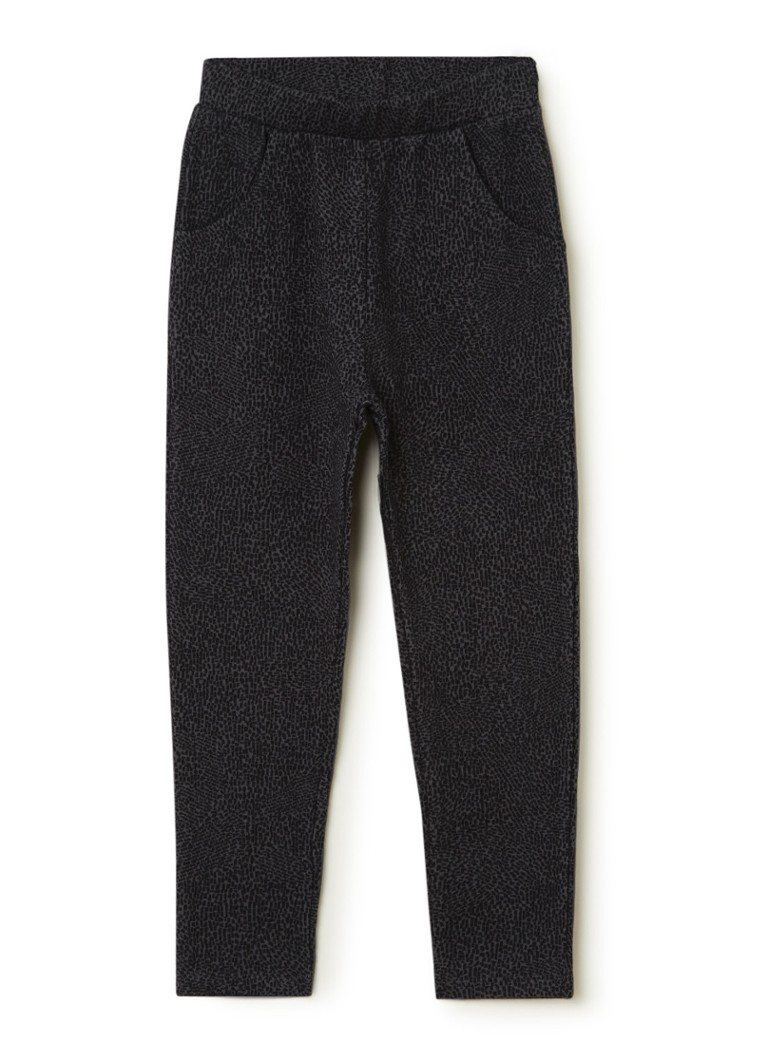 Play Up - Slim fit joggingbroek met print - Antraciet