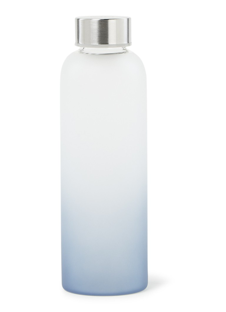 Point-Virgule - Frosted drinkfles van glas 50 cl  - Transparant