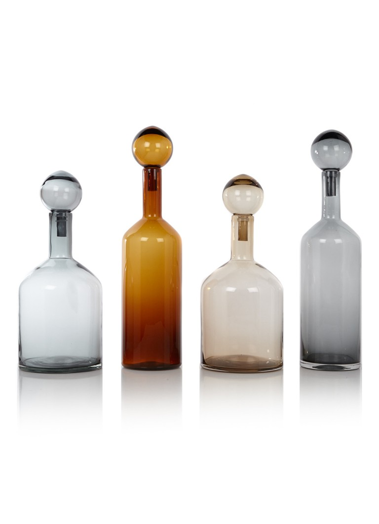 Pols Potten - Bubble & Bottles flessen set van 4 - Grijs