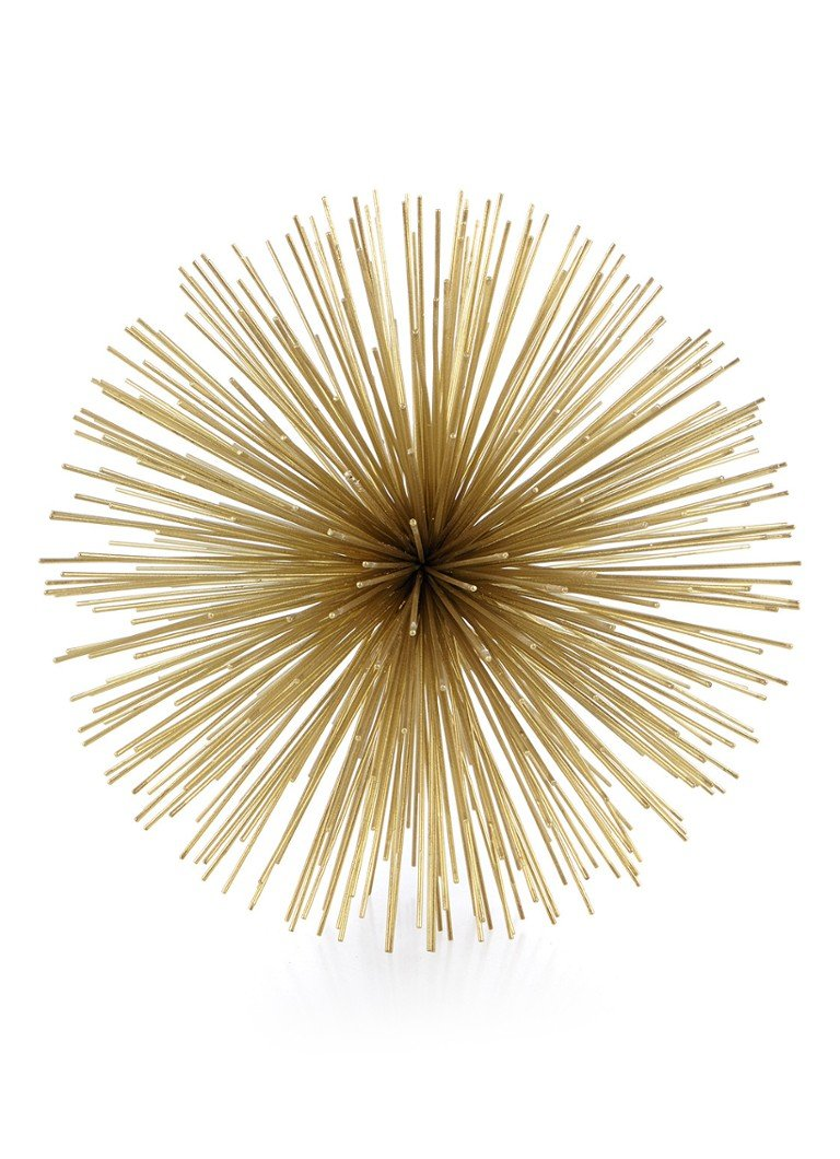 Pols Potten - Prickle Large decoratie van messing - Goud