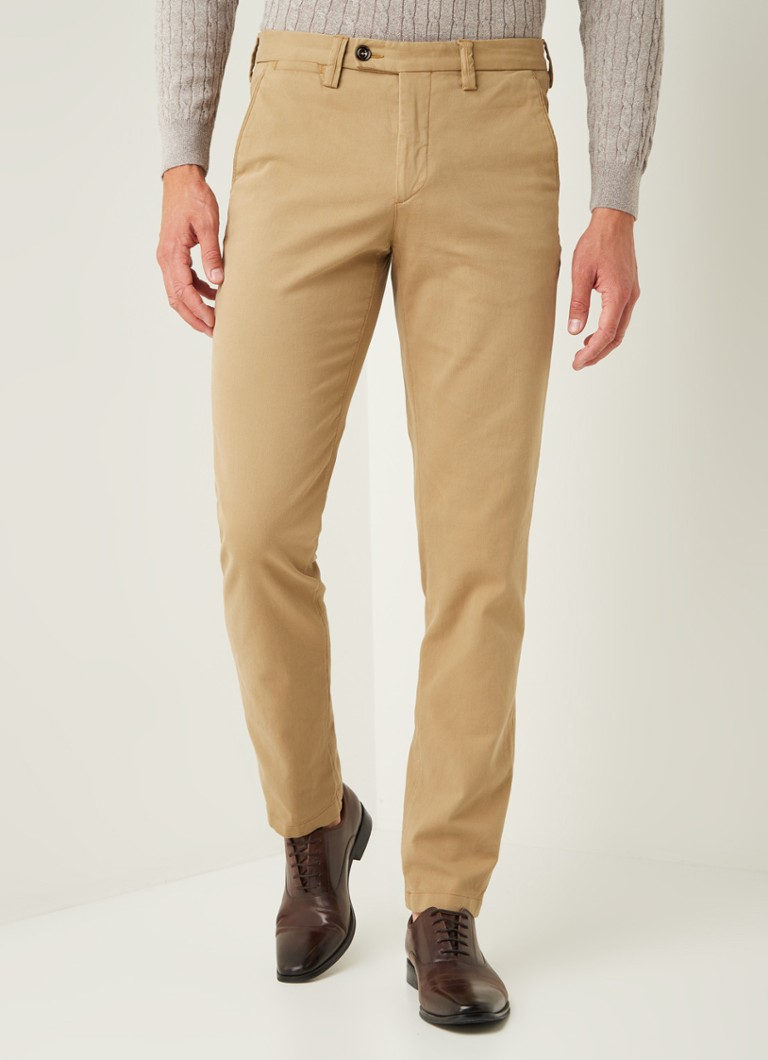 Profuomo - Chino coupe slim avec structure et stretch - Camel