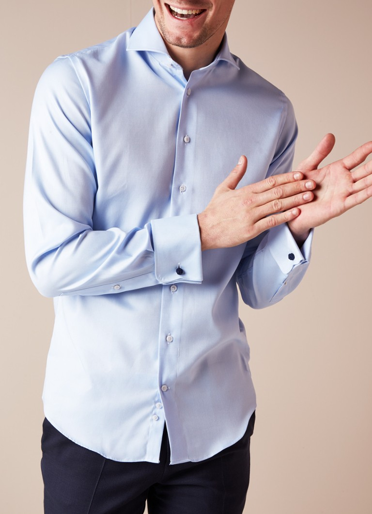 We Overhemd Slim Fit.Profuomo Slim Fit Strijkvrij Overhemd Met Dubbele Manchet De Bijenkorf