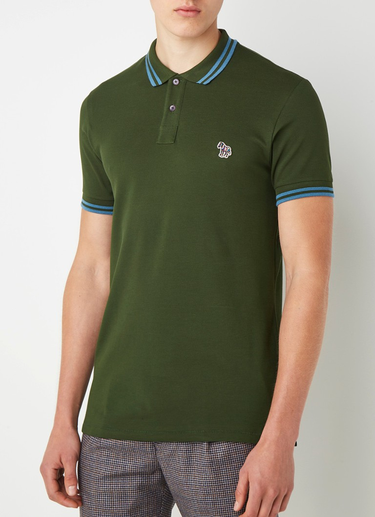 PS Paul Smith - Slim fit polo van piqué katoen - Groen