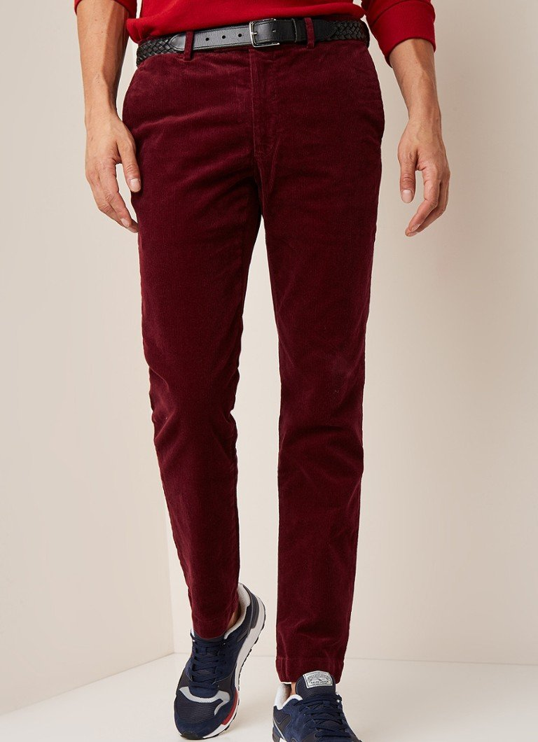 Ralph Lauren - Slim fit chino van corduroy - Donkerrood
