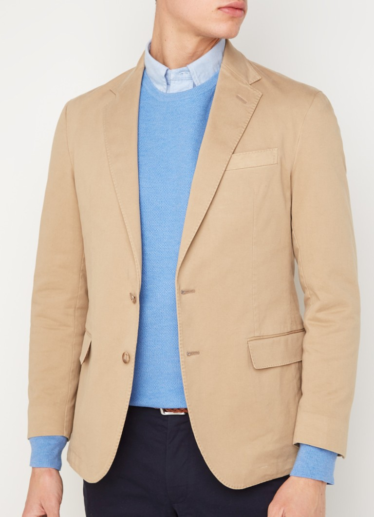 Ralph Lauren - Sportcoat single breasted colbert met stretch - Camel