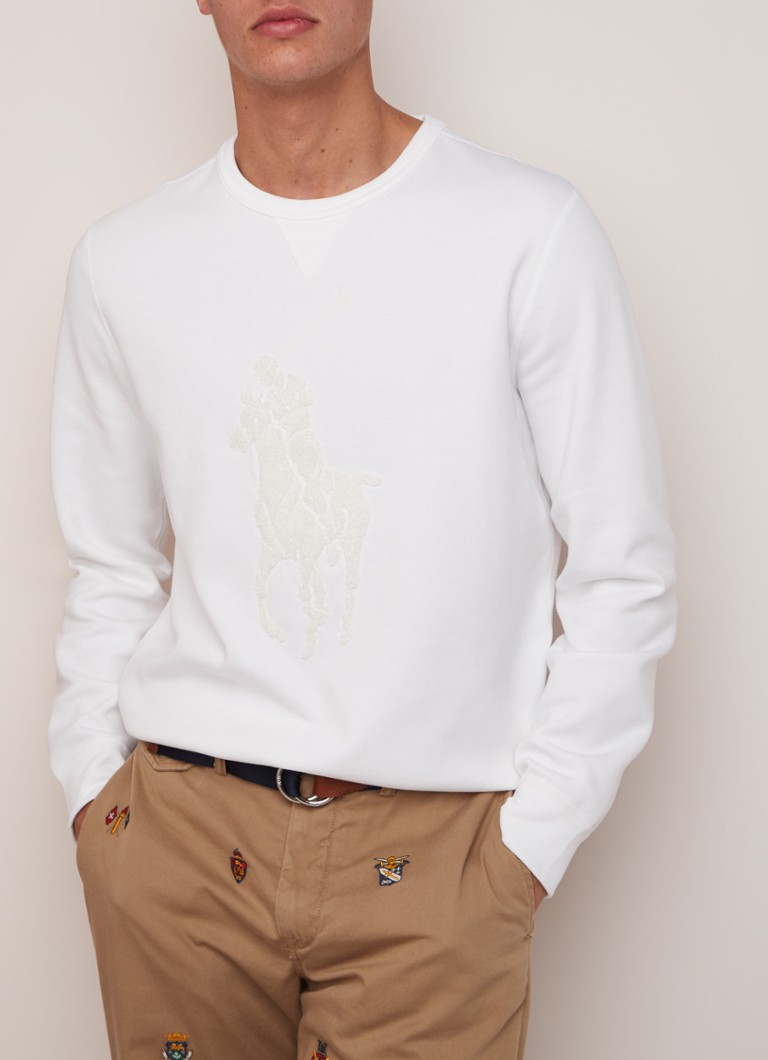 Ralph Lauren - Sweater met flock merkapplicatie - Wit