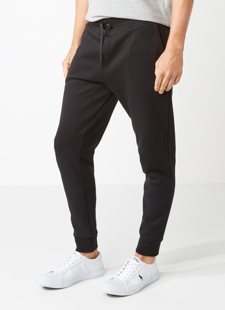Ralph Lauren - Tapered fit trackpants van katoen  - Zwart