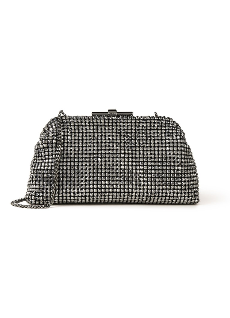 Reiss - Adaline clutch met strass - Antraciet