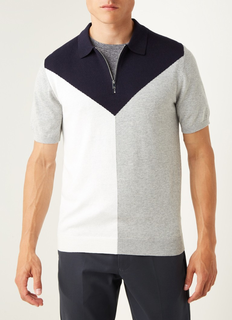 Reiss - Butler slim fit fijngebreide polo in wolblend - Multicolor