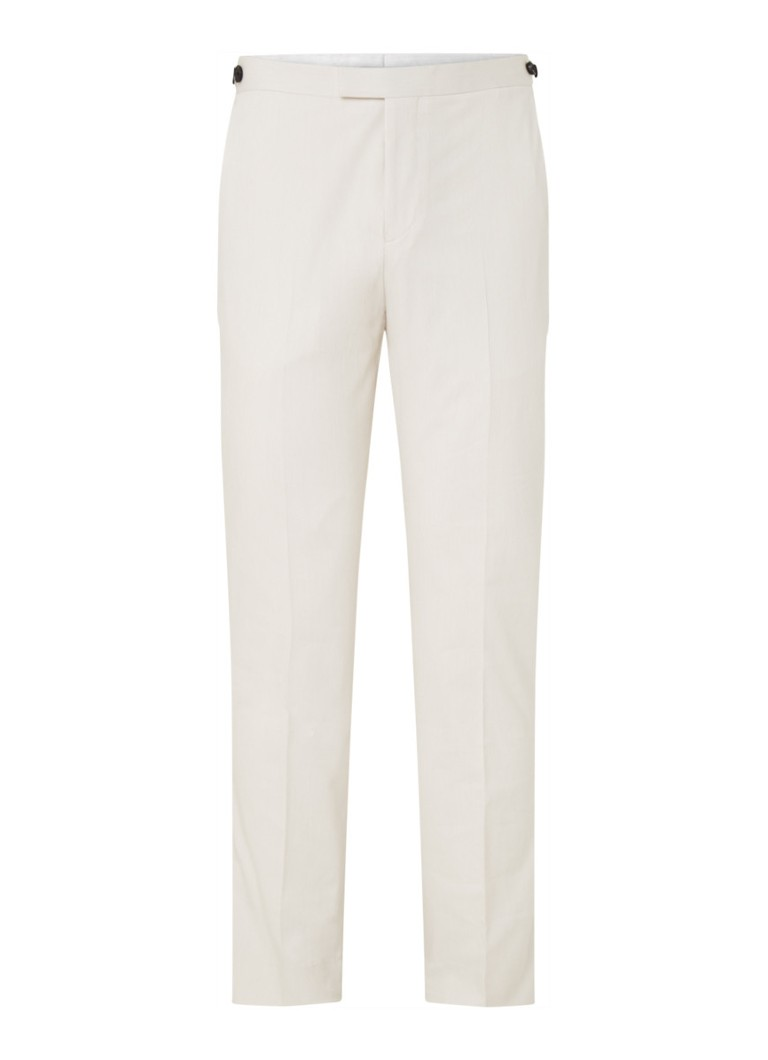 Reiss - Cologne tapered fit pantalon met streepprint - Gebroken wit
