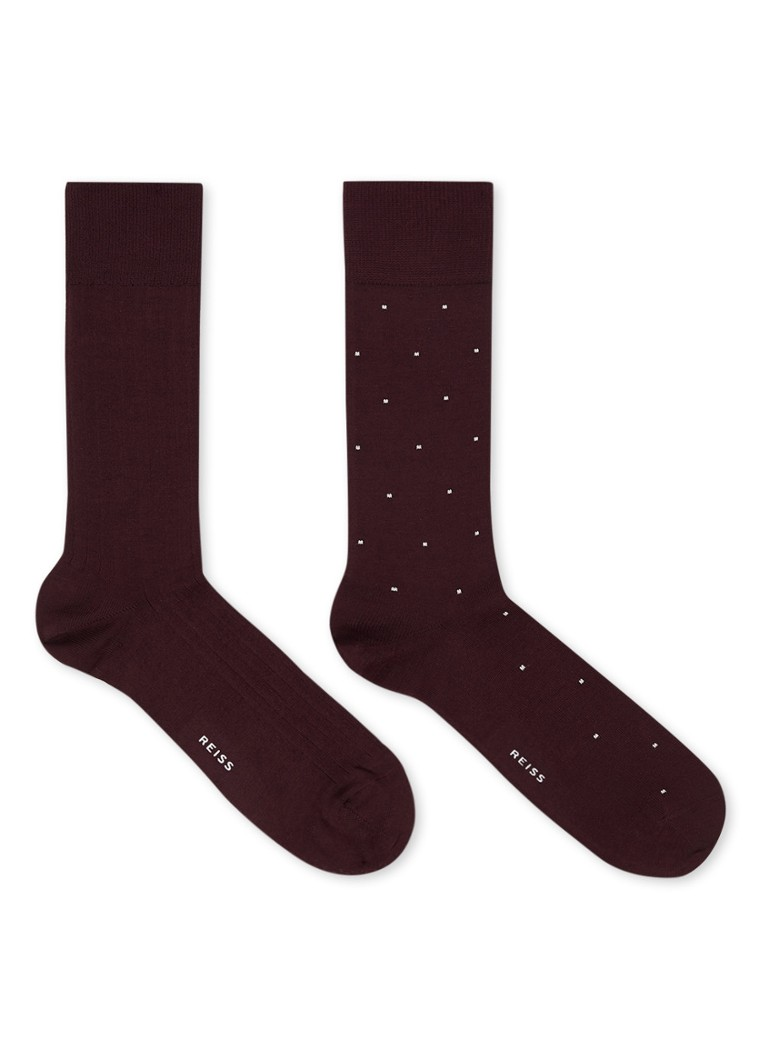 Reiss - Graham sokken in 2-pack - Aubergine