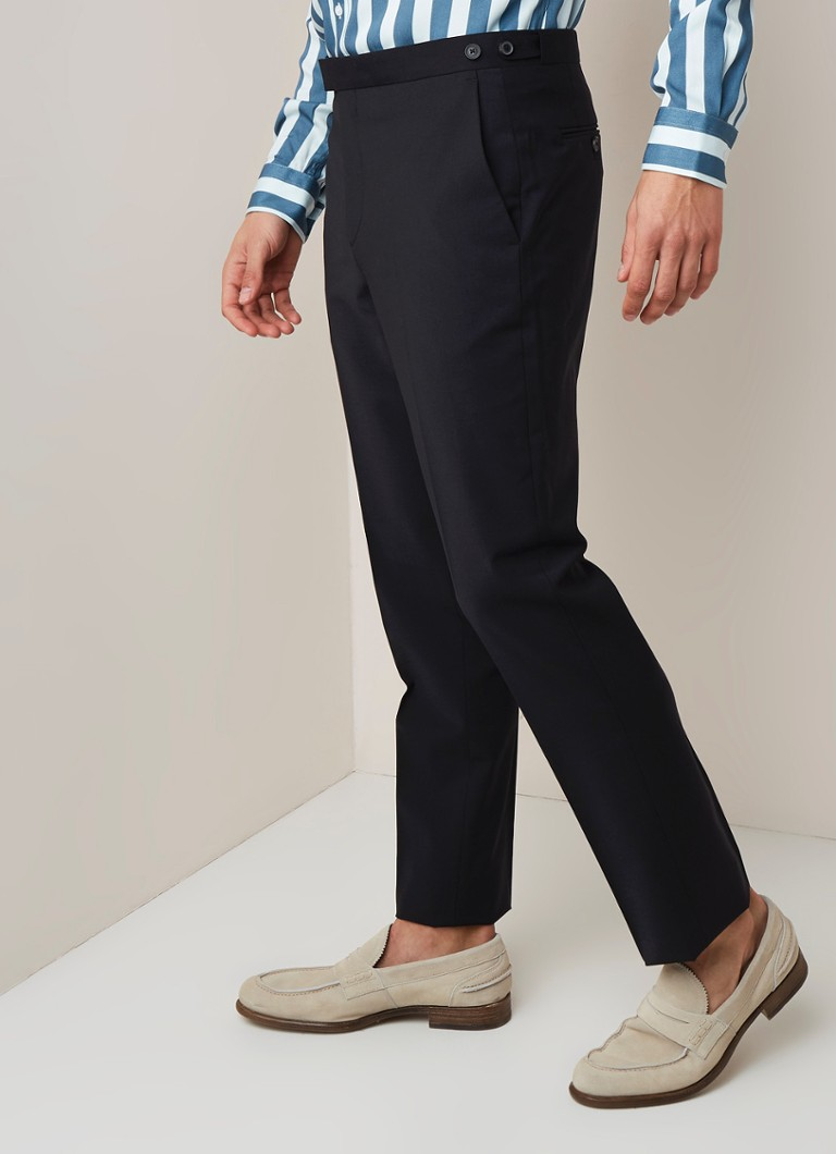 Reiss - Hope straight fit pantalon in wolblend - Zwart