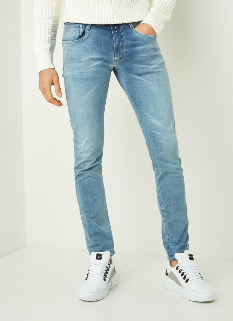 Replay - Anbass slim fit jeans met stretch - Indigo