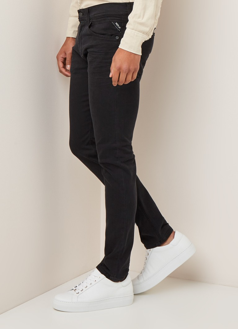 Replay - Jondrill Iceblast skinny fit jeans met stretch - Zwart