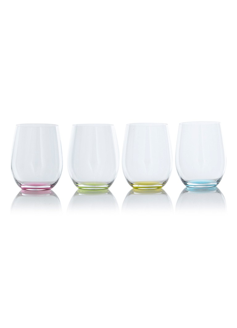 Riedel - O' Happy tumbler witte wijnglas 30 cl set van 4 - Multicolor