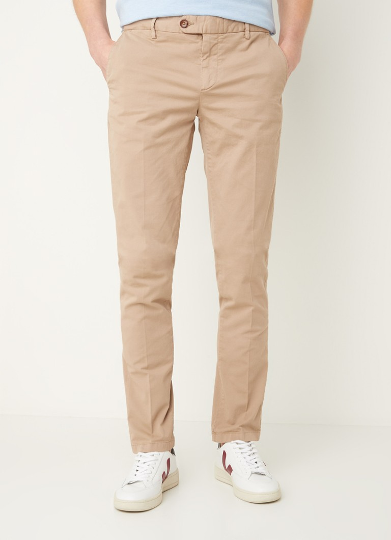 River Woods - Slim fit chino met stretch - Zand