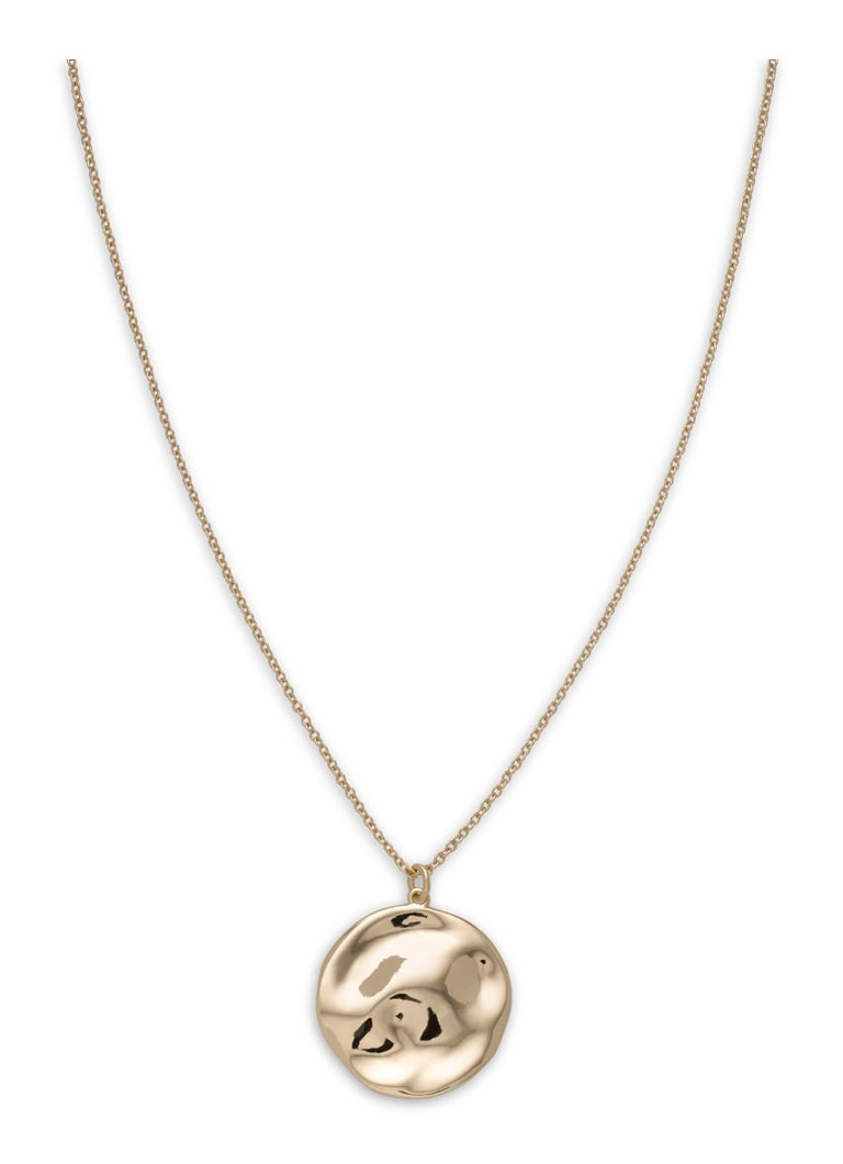 Rosefield - Collier avec pendentif Iggy Textured Coin - Or
