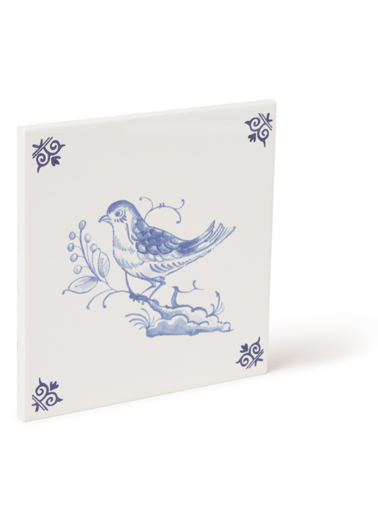 Royal Delft - Carreau Bird 3 13 x 13 cm - Blanc