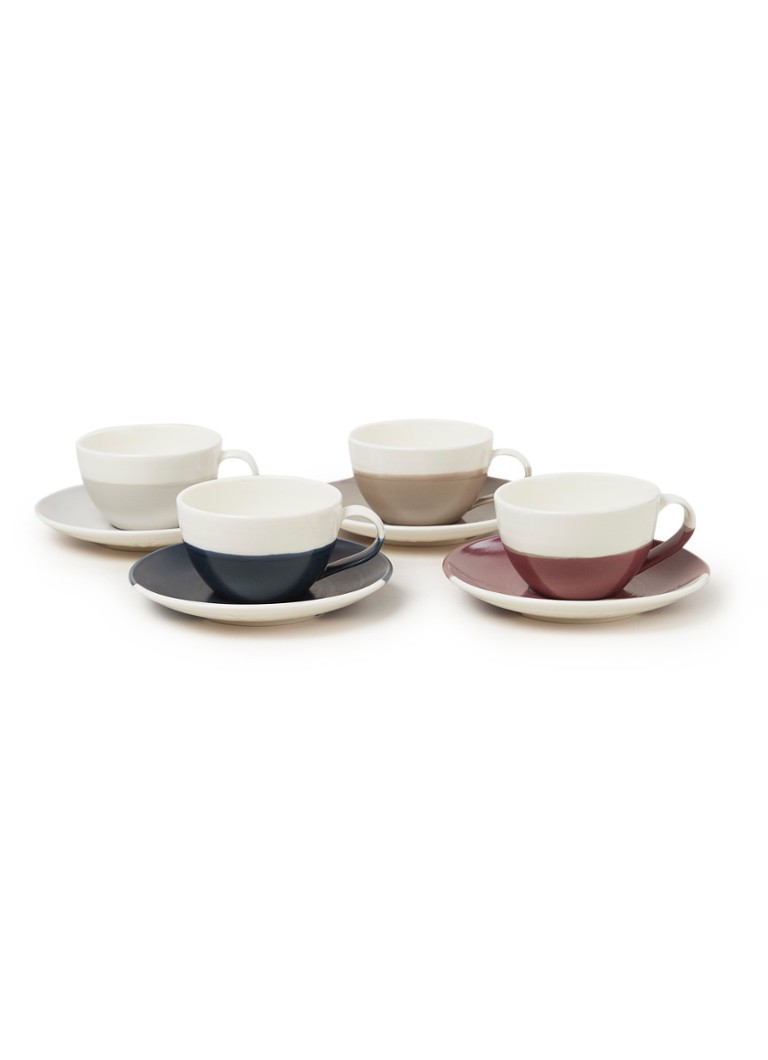 Royal Doulton - Coffee Studio flat white kop en schotel 20 cl set van 4 - Wit