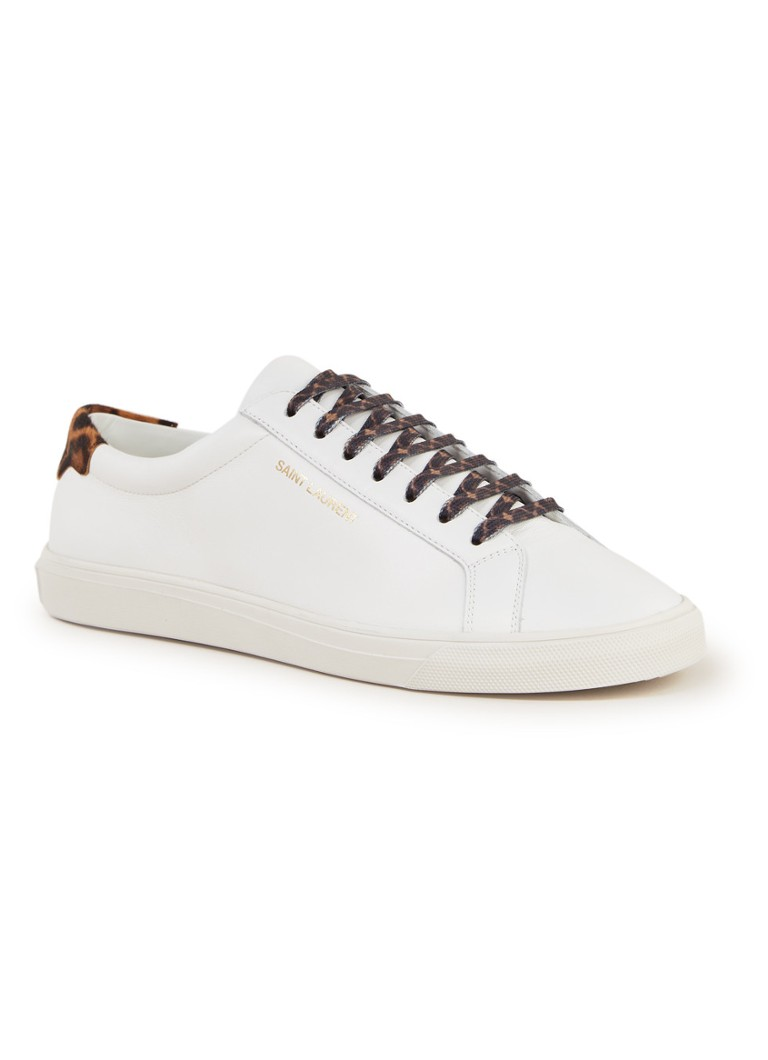 Saint Laurent - Andy sneaker van kalfsleer - Wit