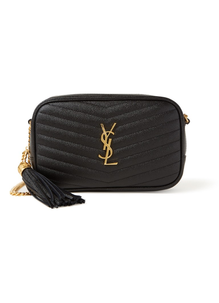 Saint Laurent - Lou Mini crossbodytas van kalfsleer - Zwart