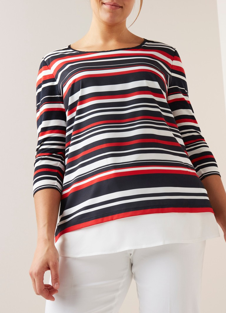 SAMOON - Loose fit top met streepdessin - Multicolor