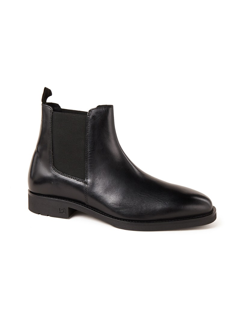 Scotch & Soda - Picaro chelsea boot van leer - Zwart