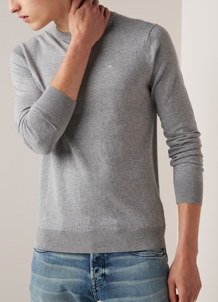 Scotch & Soda - Pullover in kasjmierblend - Grijsmele