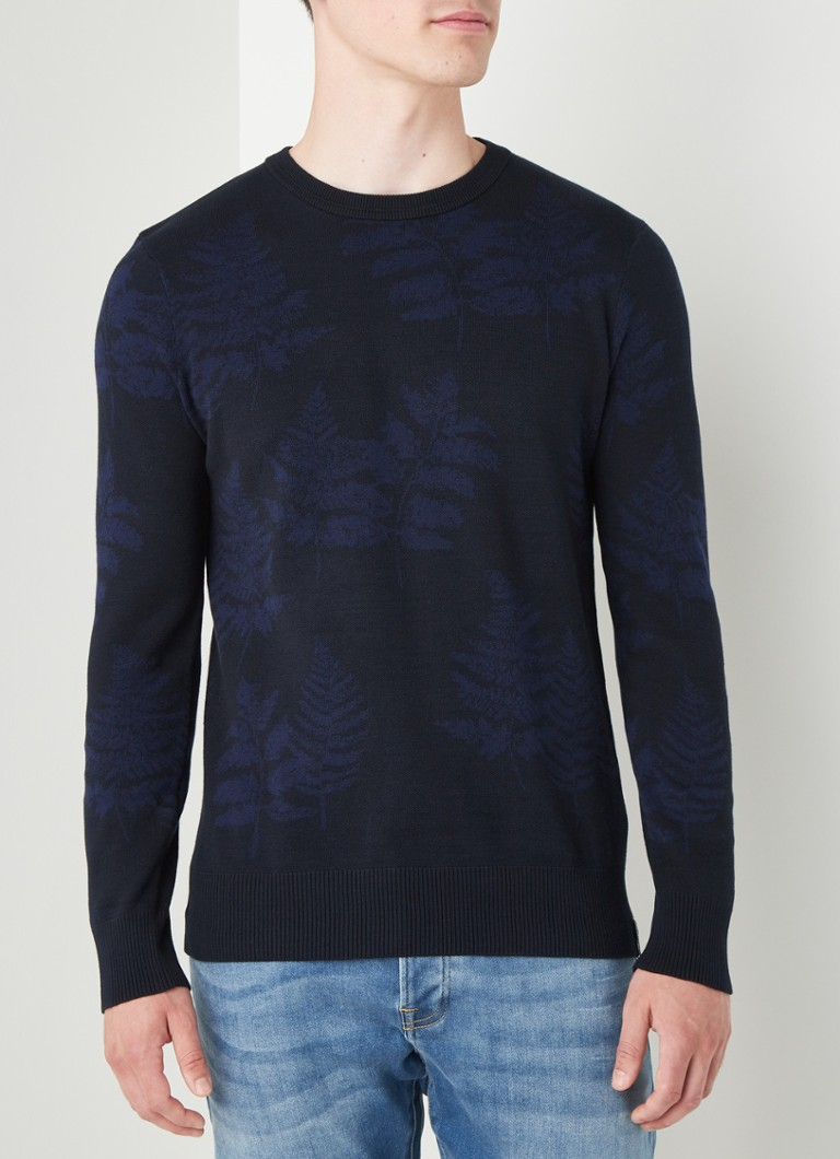 Scotch & Soda - Pullover met jacquard dessin - Donkerblauw