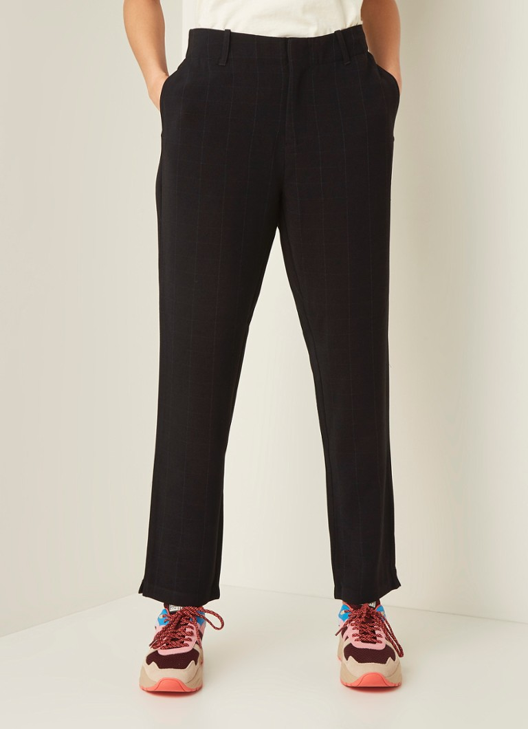 Scotch & Soda - Straight fit pantalon met ruitdessin - Multicolor