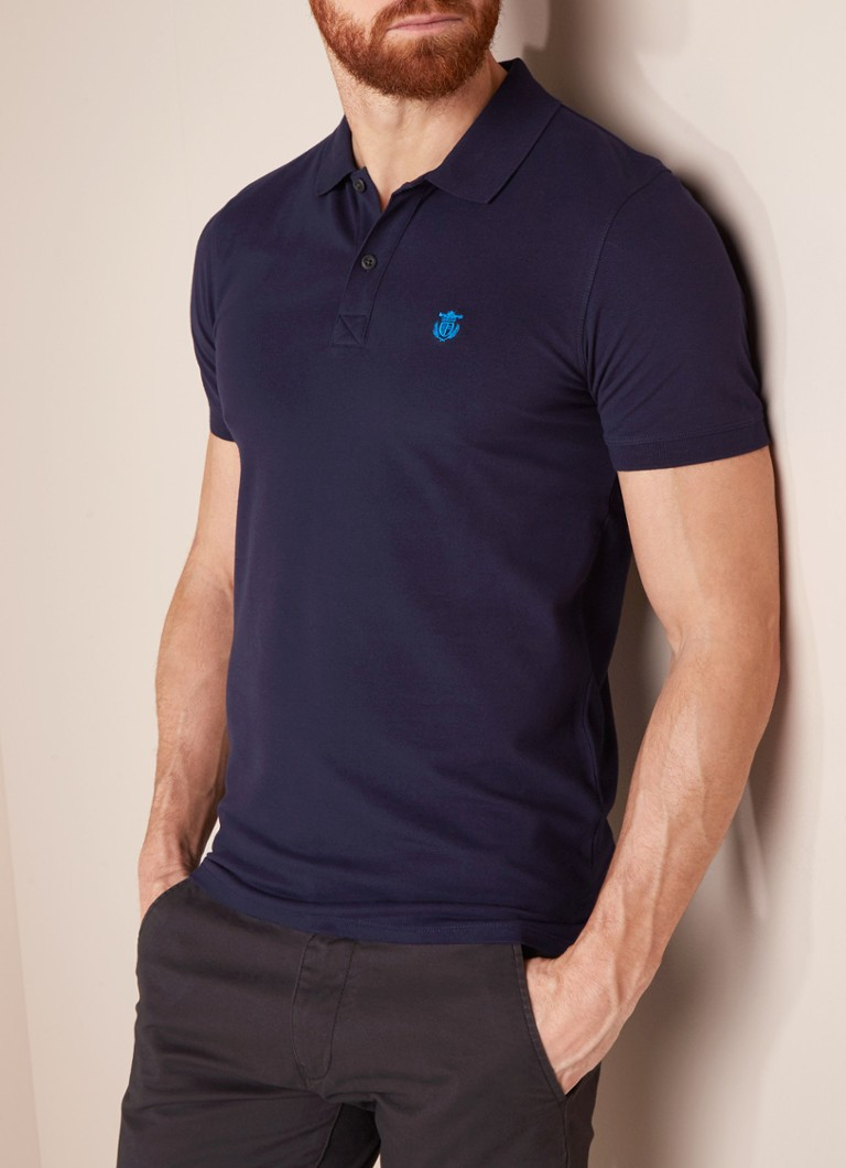 Selected Homme - Aro polo met stretch - Donkerblauw