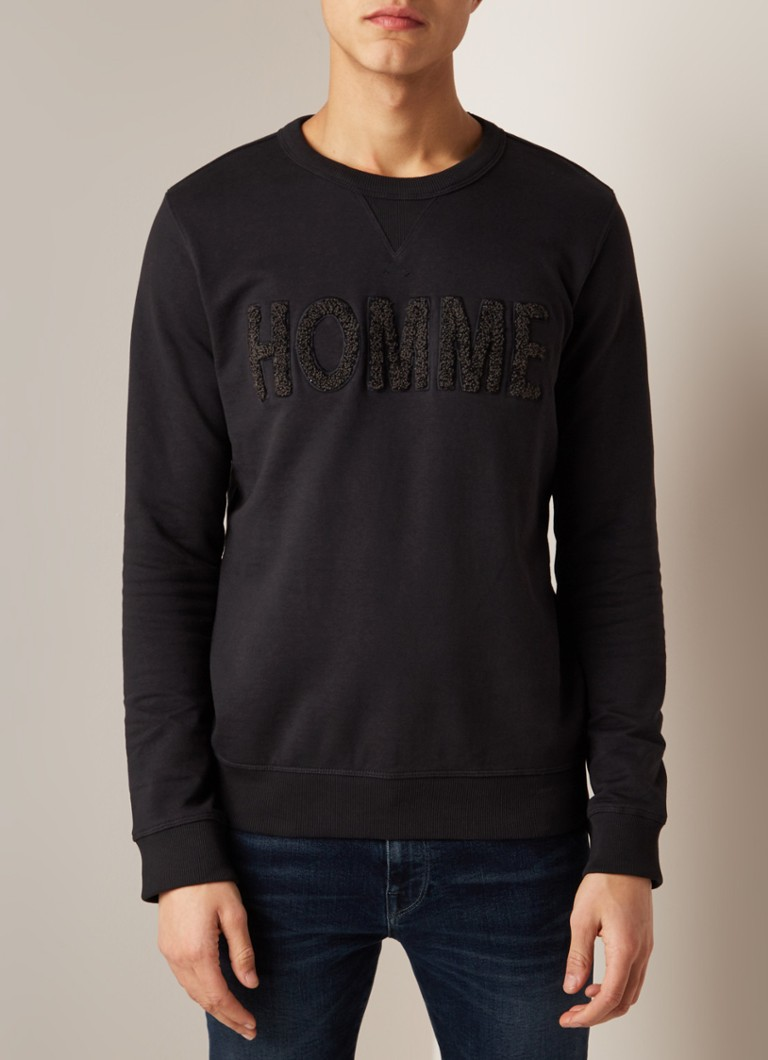Selected Homme - Jared sweater in katoenblend  - Zwart