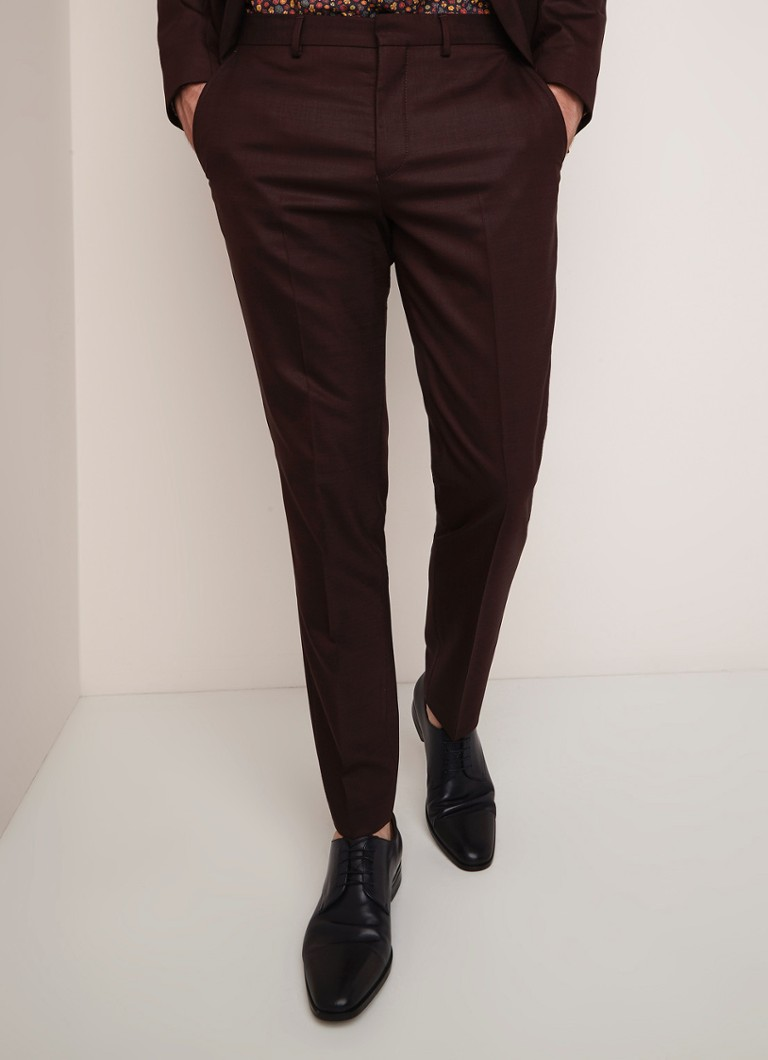 Selected Homme - Mylostate slim fit pantalon in wolblend - Bordeauxrood