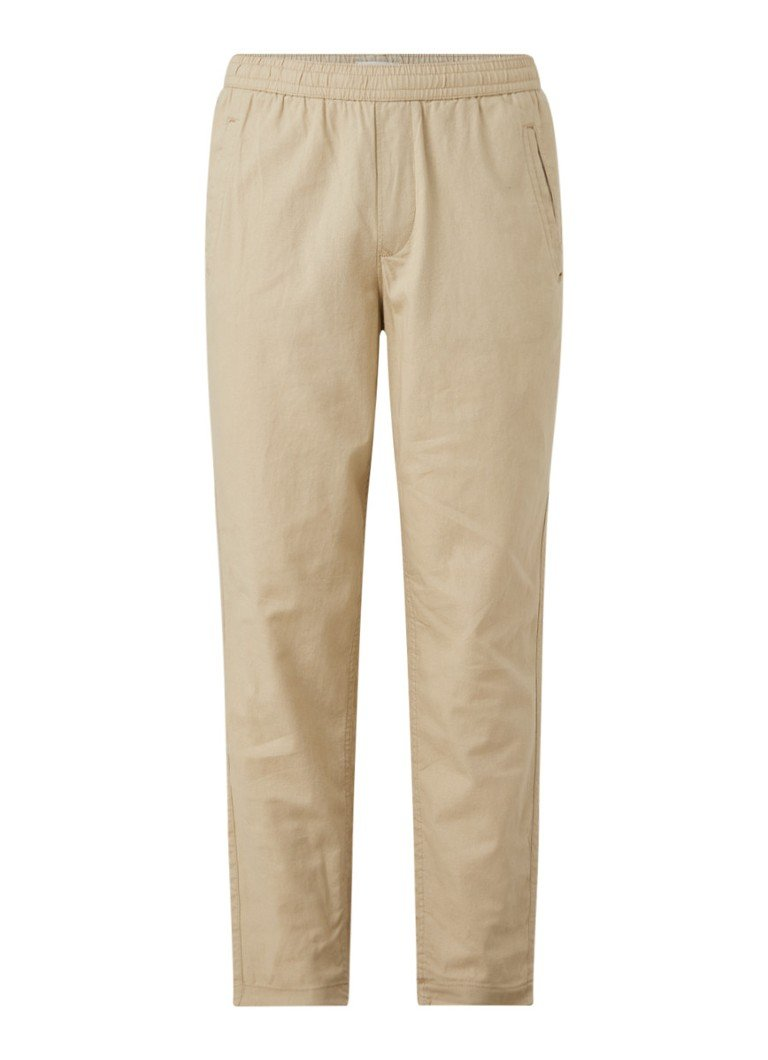 Selected Homme - Relax-Cooper tapered fit pantalon in linnenblend - Beige