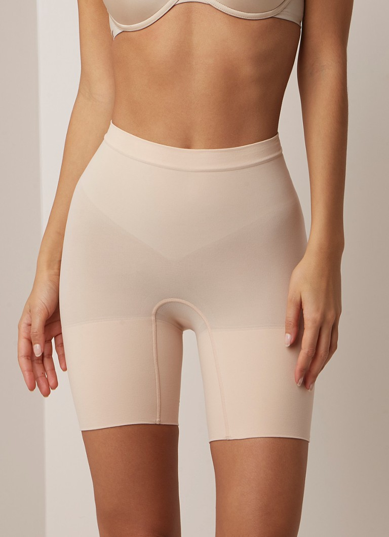 SPANX - High waisted corrigerende short - Creme