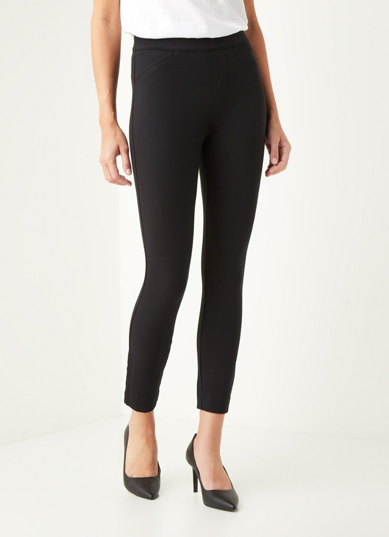SPANX - Pont high waist slim fit cropped pantalon - Zwart