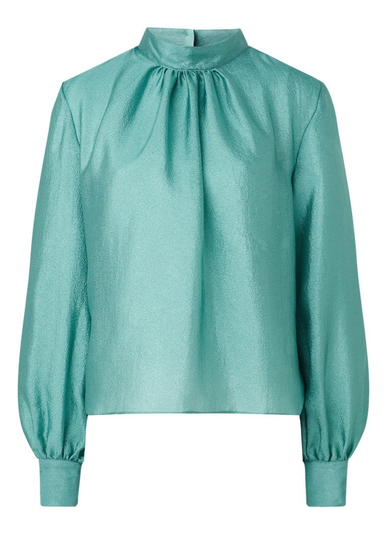 STINE GOYA - Eddy tuniek met metallic finish - Zeegroen