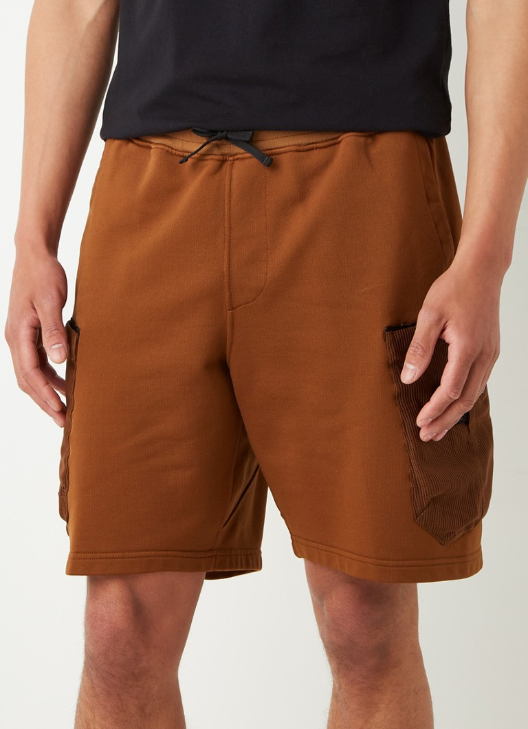 Stone Island Shadow Project - 60307 short coupe ample avec logo - Marron