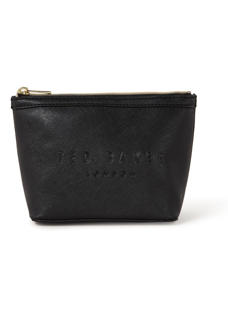 Ted Baker - Neevie make-up tas met logo  - Zwart