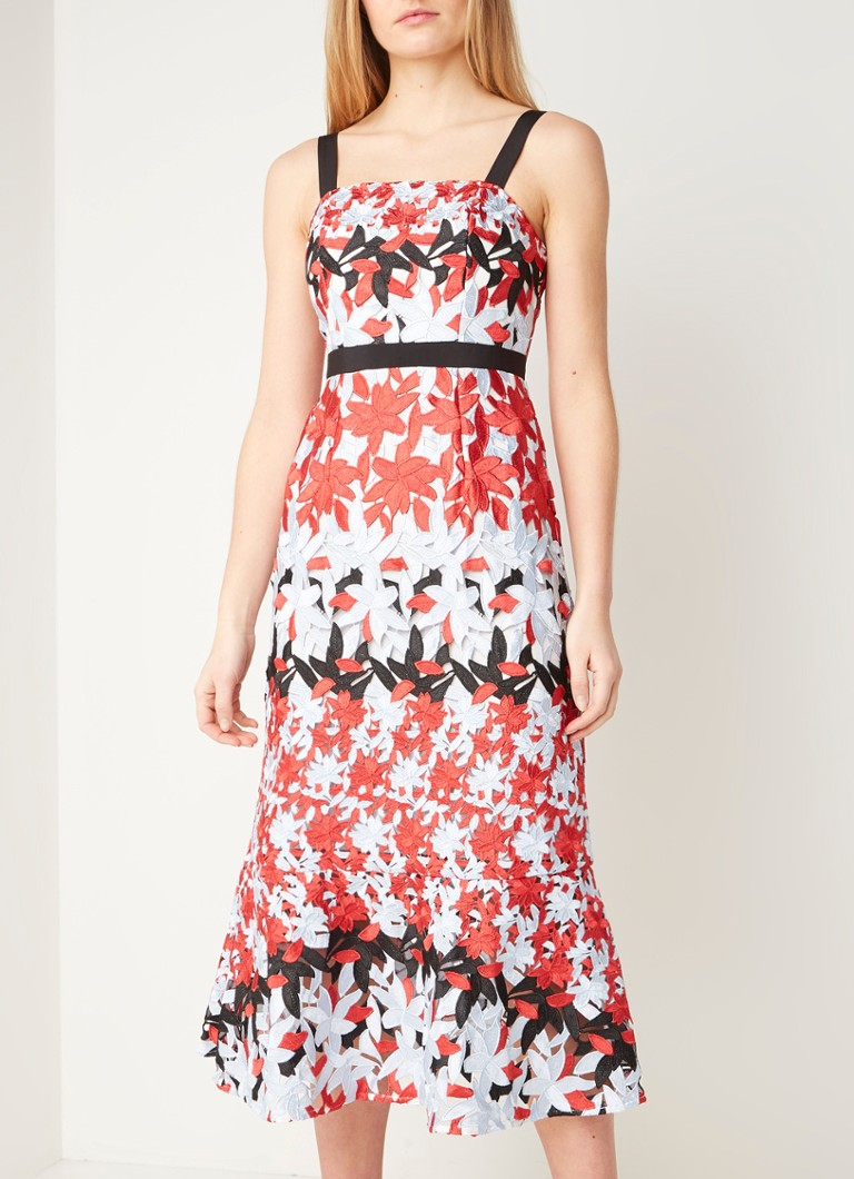 Ted Baker - Telily maxi jurk van guipure kant - Lichtblauw