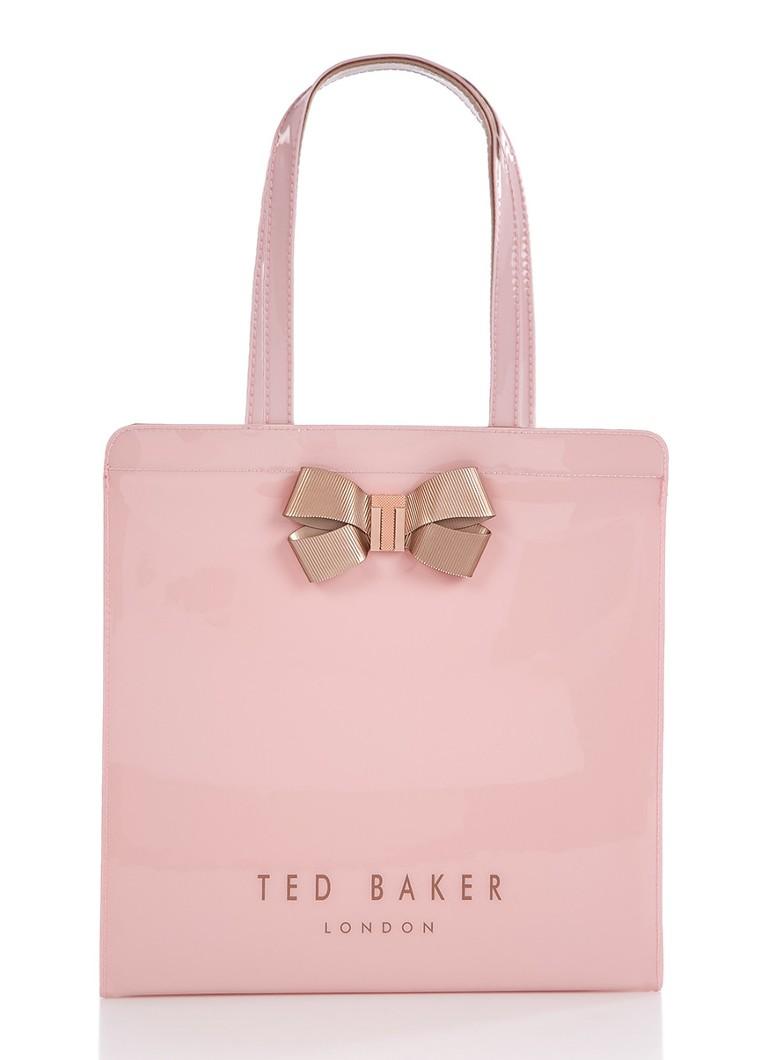 Ted baker vallcon shopper met logo en strik de bijenkorf for How to be a professional shopper