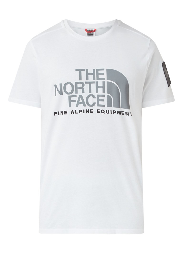 The North Face - Alphine trainings T-shirt met logoprint  - Zwart