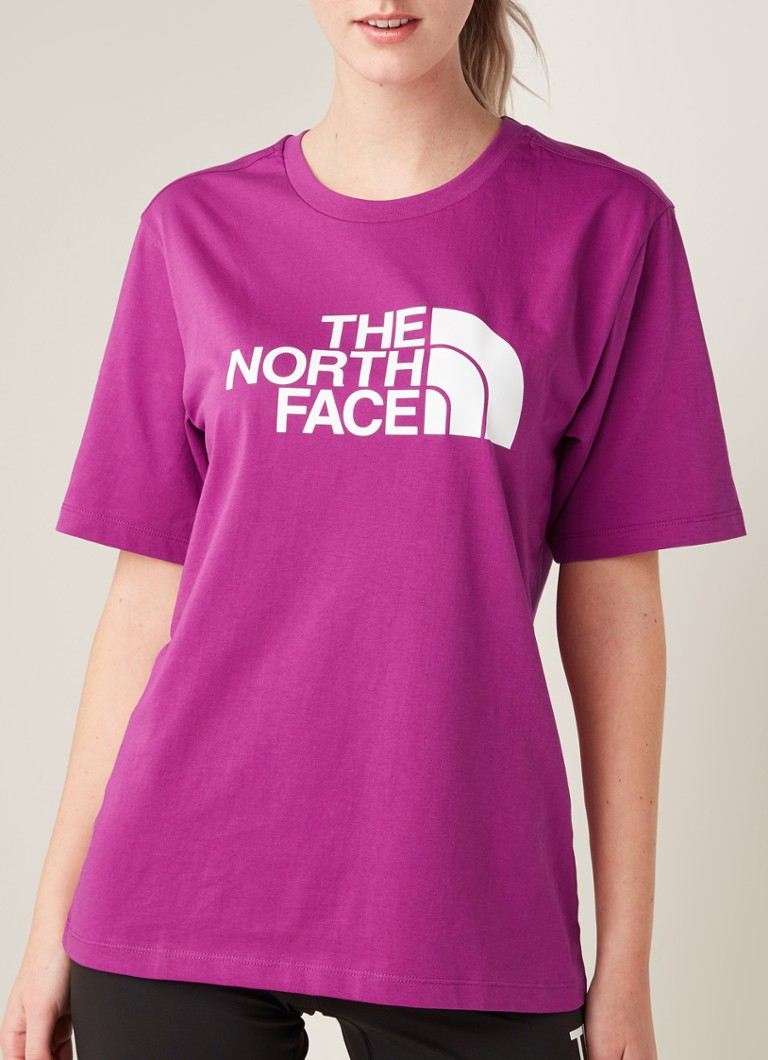 The North Face - Easy T-shirt met logoprint - Paars