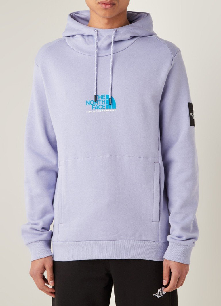 The North Face - Fine Alpine hoodie met logoprint - Lavendel