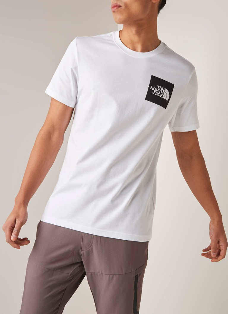The North Face - Fine T-shirt met logoprint - Wit