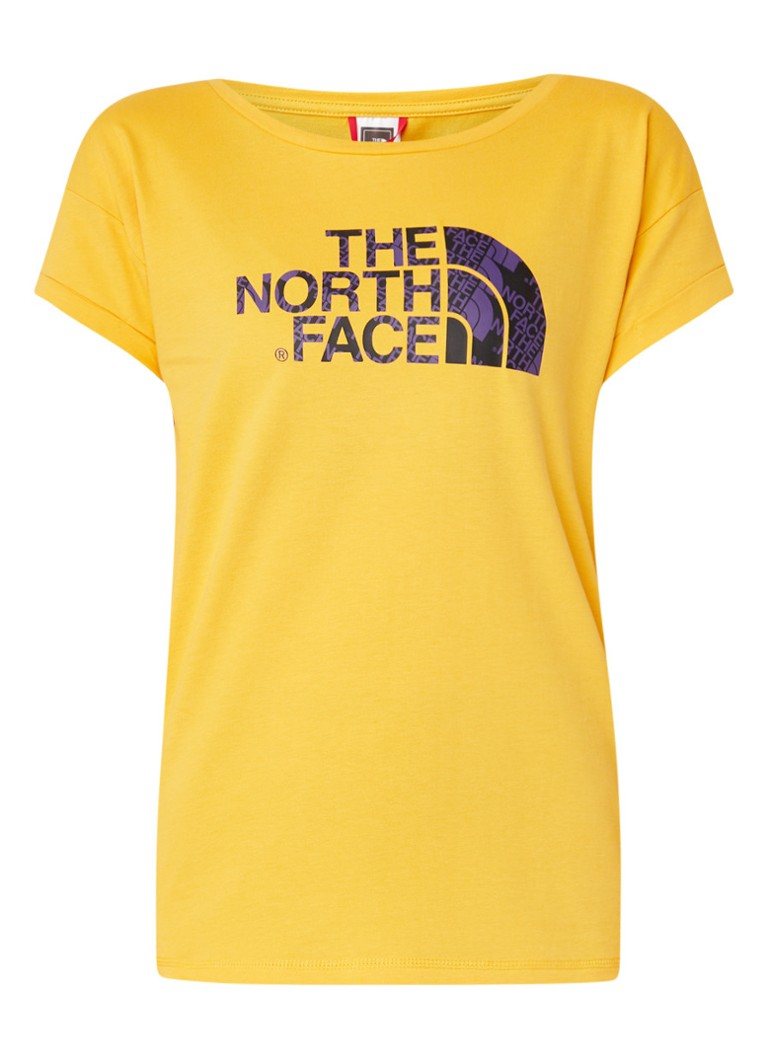 The North Face - Himalayan T-shirt met logoprint - Geel