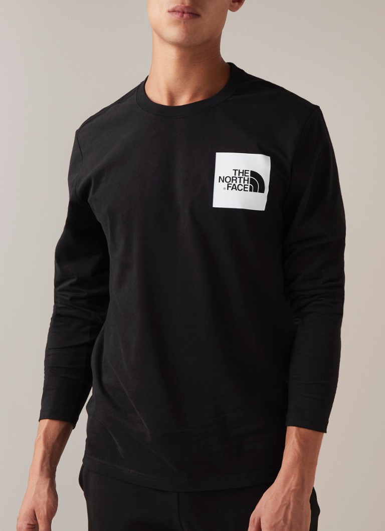 The North Face - Longsleeve met logoprint  - Zwart