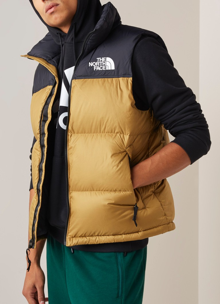 The North Face - Retro Nuptse bodywarmer met donsvulling - Khaki